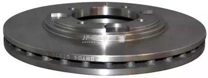 Вентилируемый передний тормозной диск на HYUNDAI LANTRA 'JP GROUP 3563100100'.