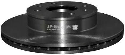 Вентилируемый передний тормозной диск на HYUNDAI I10 'JP GROUP 3563101100'.