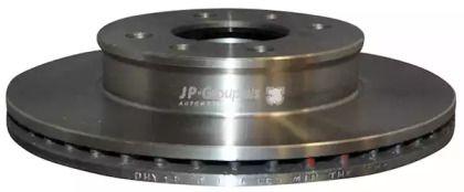 Вентилируемый передний тормозной диск на Хендай Гетц JP GROUP 3563101200.