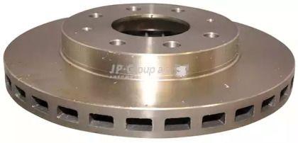 Вентилируемый передний тормозной диск на MITSUBISHI SPACE WAGON 'JP GROUP 3563101600'.