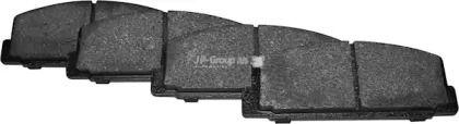 Заднї гальмівні колодки на Мазда Премаси  JP GROUP 3863700610.