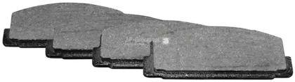 Заднї гальмівні колодки на MAZDA PREMACY  JP GROUP 3863700710.