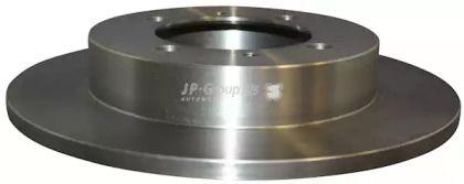 Задній гальмівний диск на MITSUBISHI CARISMA 'JP GROUP 3963200900'.