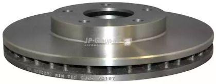 Вентилируемый передний тормозной диск на NISSAN MAXIMA 'JP GROUP 4063100700'.