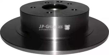 Задний тормозной диск на Ниссан Кашкай 'JP GROUP 4063200800'.