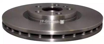 Вентилируемый передний тормозной диск на Лянча Федра 'JP GROUP 4163102909'.