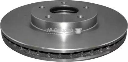 Вентилируемый передний тормозной диск на Рено Колеос 'JP GROUP 4363101300'.