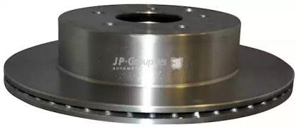 Вентилируемый задний тормозной диск на RENAULT KOLEOS 'JP GROUP 4363200900'.