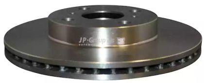 Вентилируемый передний тормозной диск 'JP GROUP 4863100800'.
