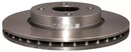 Вентилируемый передний тормозной диск на Тайота Ярис 'JP GROUP 4863101700'.