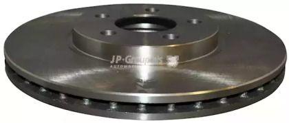 Вентилируемый передний тормозной диск на CHRYSLER PT CRUISER 'JP GROUP 5063100600'.