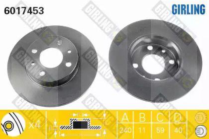 Тормозной диск на ALFA ROMEO 33 'GIRLING 6017453'.