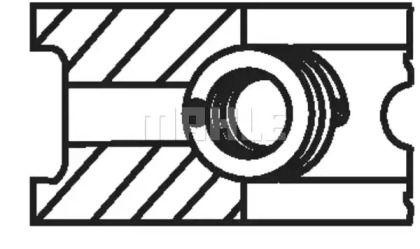 Комплект поршневих кілець на Мерседес W210 MAHLE 002 93 N0.