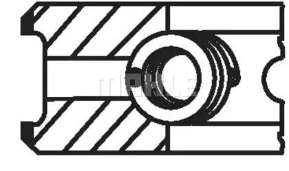 Комплект поршневых колец на Фольксваген Пассат 'MAHLE 034 74 N2'.