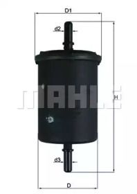 Топливный фильтр на Ситроен С3 Пикассо MAHLE KL 248.