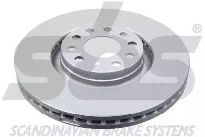 Вентильований гальмівний диск 'SBS 18153147107'.