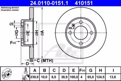Тормозной диск 'ATE 24.0110-0151.1'.