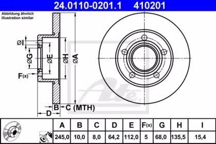 Тормозной диск 'ATE 24.0110-0201.1'.