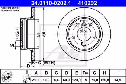 Тормозной диск 'ATE 24.0110-0202.1'.