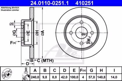 Тормозной диск 'ATE 24.0110-0251.1'.