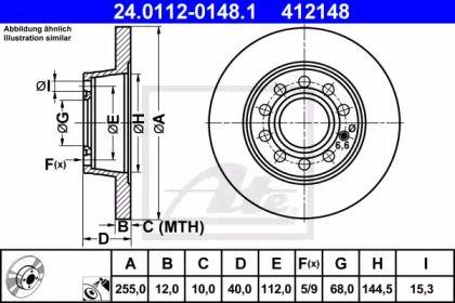 Тормозной диск 'ATE 24.0112-0148.1'.
