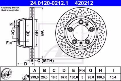 Тормозной диск на PORSCHE 718 'ATE 24.0120-0212.1'.