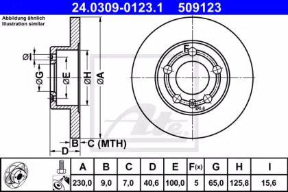 Тормозной диск 'ATE 24.0309-0123.1'.