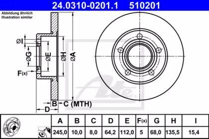 Тормозной диск 'ATE 24.0310-0201.1'.