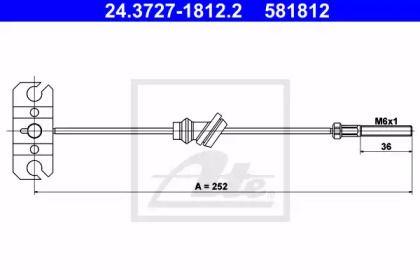 Трос ручного гальма на Мазда Премаси 'ATE 24.3727-1812.2'.