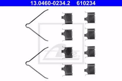 Скоби гальмівних колодок на MAZDA PREMACY 'ATE 13.0460-0234.2'.