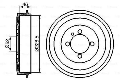 Тормозной барабан на BMW 3 'BOSCH 0 986 477 039'.