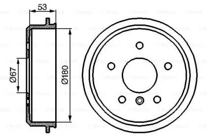 Тормозной барабан на Мерседес А класс 'BOSCH 0 986 477 096'.