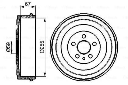 Тормозной барабан на Пежо Експерт 'BOSCH 0 986 477 144'.
