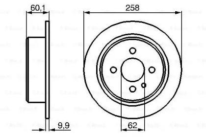 Тормозной диск на BMW 3 'BOSCH 0 986 478 034'.