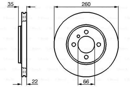 Вентилируемый тормозной диск на БМВ З1 'BOSCH 0 986 478 036'.