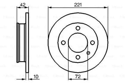 Тормозной диск 'BOSCH 0 986 478 068'.