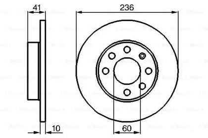 Тормозной диск 'BOSCH 0 986 478 080'.