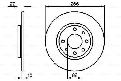 Тормозной диск на PEUGEOT 305 'BOSCH 0 986 478 090'.