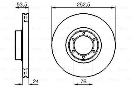 Вентилируемый тормозной диск на Рено Трафик 'BOSCH 0 986 478 113'.
