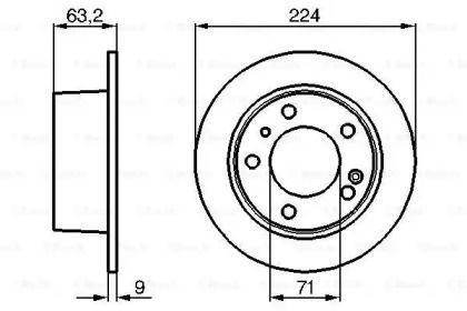 Тормозной диск на CITROEN XM 'BOSCH 0 986 478 141'.