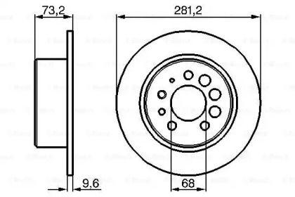 Тормозной диск на Вольво 940 'BOSCH 0 986 478 143'.