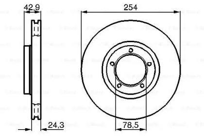 Вентилируемый тормозной диск на FORD TRANSIT TOURNEO 'BOSCH 0 986 478 160'.