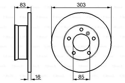 Тормозной диск на Мерседес Г класс 'BOSCH 0 986 478 189'.