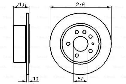 Тормозной диск на MERCEDES-BENZ SL BOSCH 0 986 478 199.