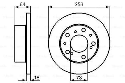 Тормозной диск на CITROEN C25 'BOSCH 0 986 478 200'.