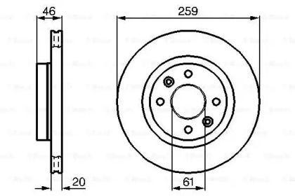 Вентилируемый тормозной диск на Рено Эспейс 'BOSCH 0 986 478 270'.
