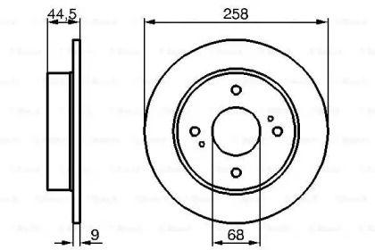 Тормозной диск на Ниссан Блюберд 'BOSCH 0 986 478 284'.