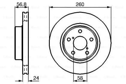Вентилируемый тормозной диск на SUBARU IMPREZA 'BOSCH 0 986 478 293'.