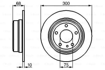 Тормозной диск на БМВ 7 'BOSCH 0 986 478 323'.