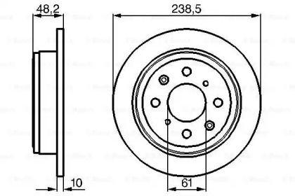 Тормозной диск на Хонда Концерто 'BOSCH 0 986 478 350'.